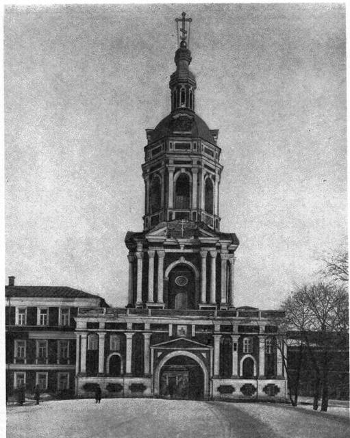 Западная колокольня. 1906 год