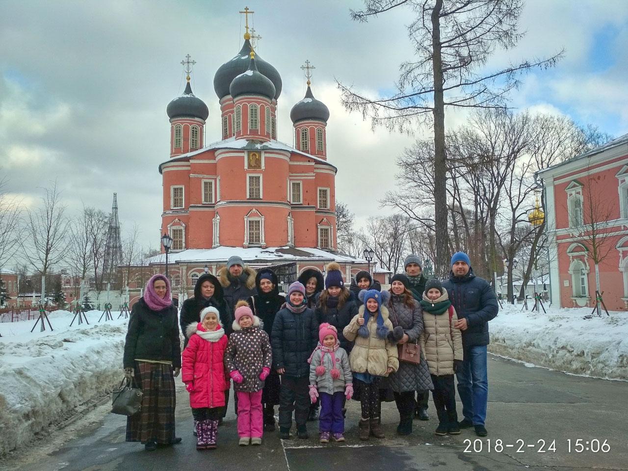 29. Перед Большим собором Донского монастыря1
