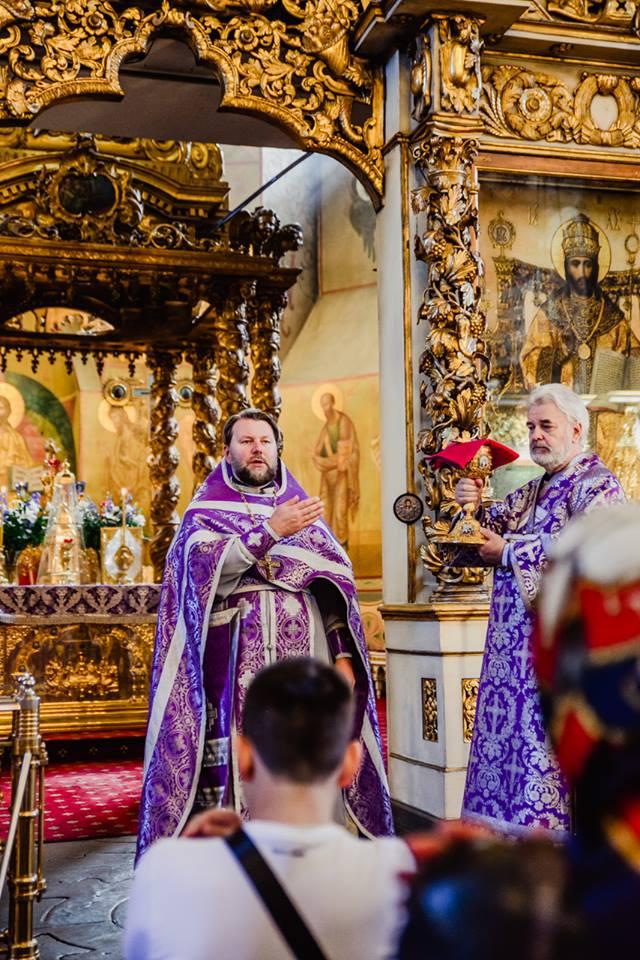 Изнесение Животворящаго Креста Гоcподня в Донском монастыре