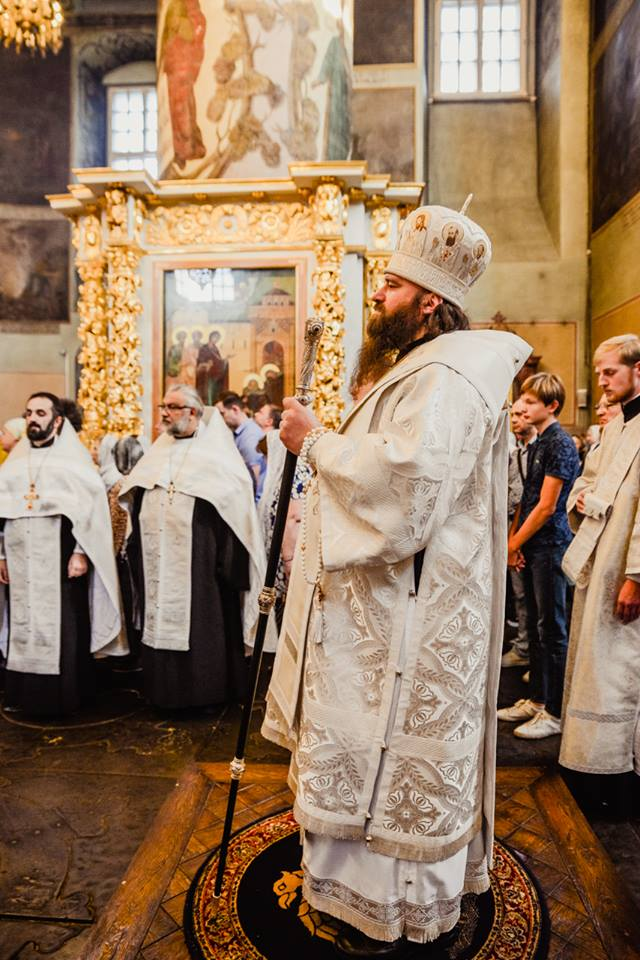 Всенощное бдение в канун Преображения в Донском монастыре