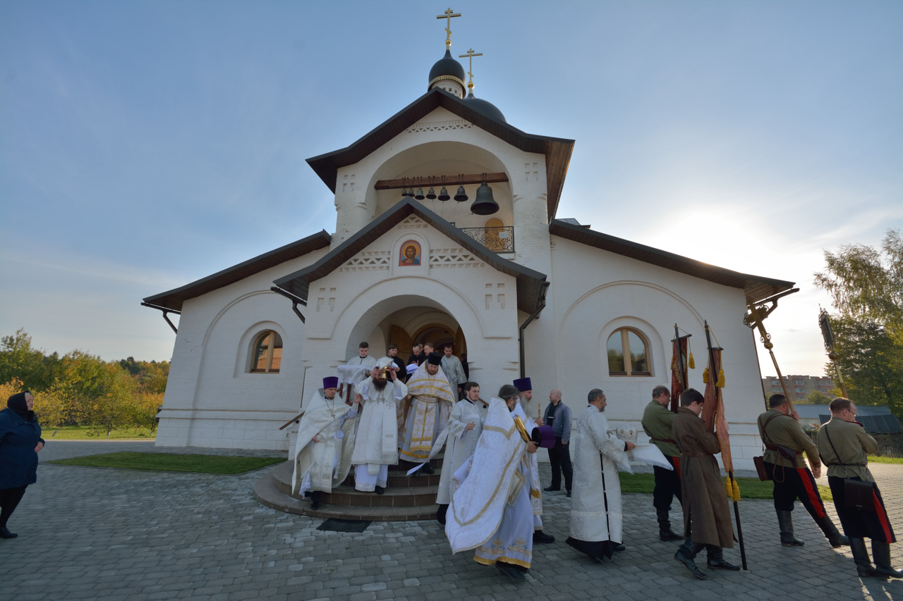 Освящение храма на подворье Донского монастыря