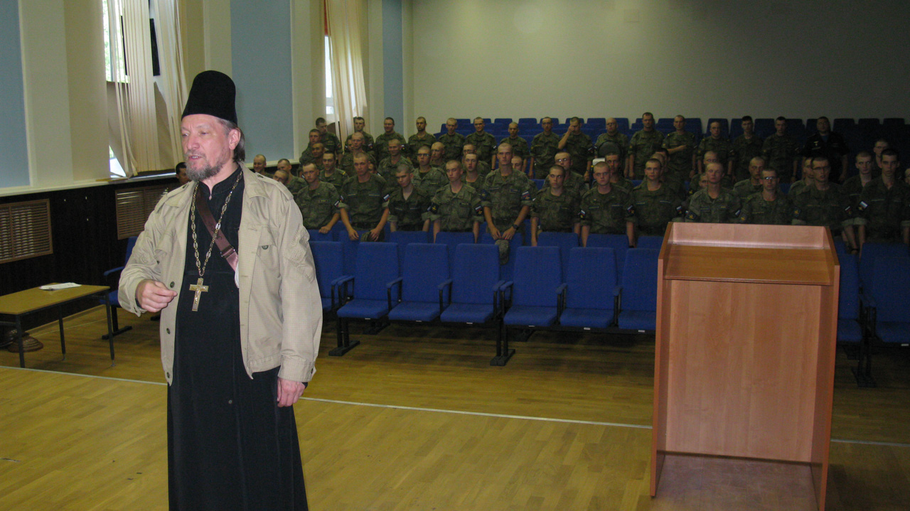Взаимодействие служб Донского монастыря с ВС РФ