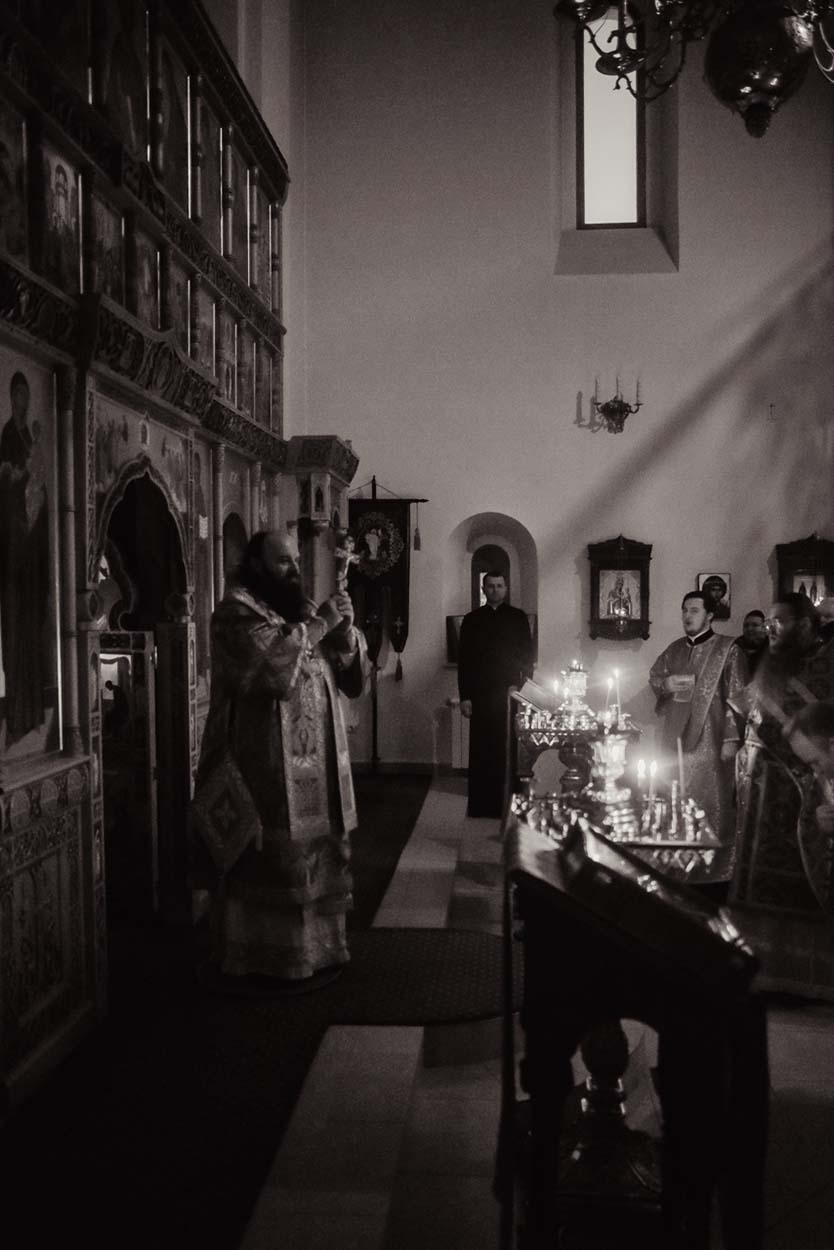 Богослужение на подворье Донского монастыря в поселке Зеленоградский