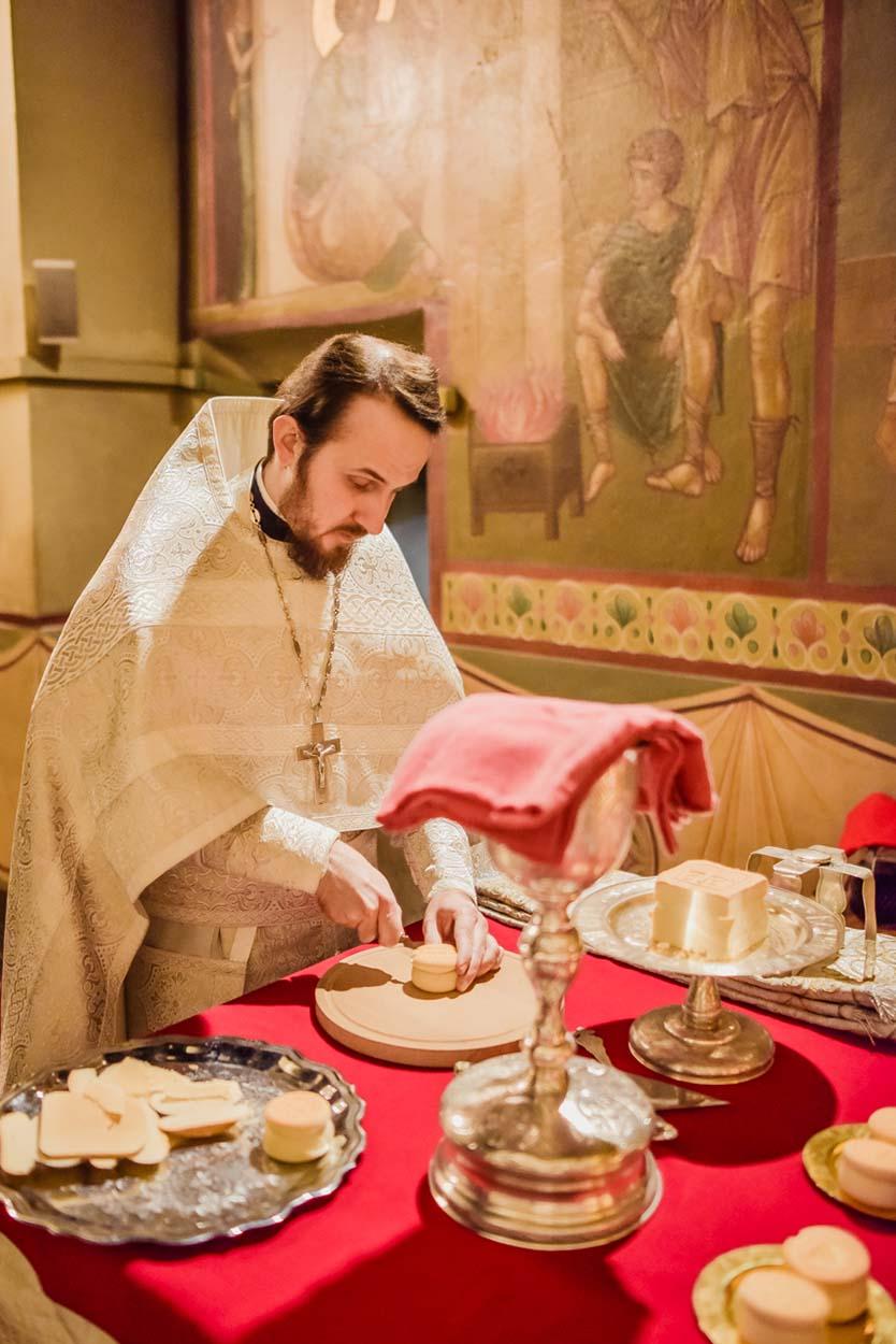 Рождественское богослужение в Донском монастыре