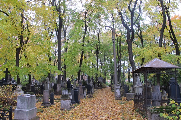 Золотая осень в Донском монастыре, на кладбище которого погребены о. Александр и матушка Каллиста Киселевы