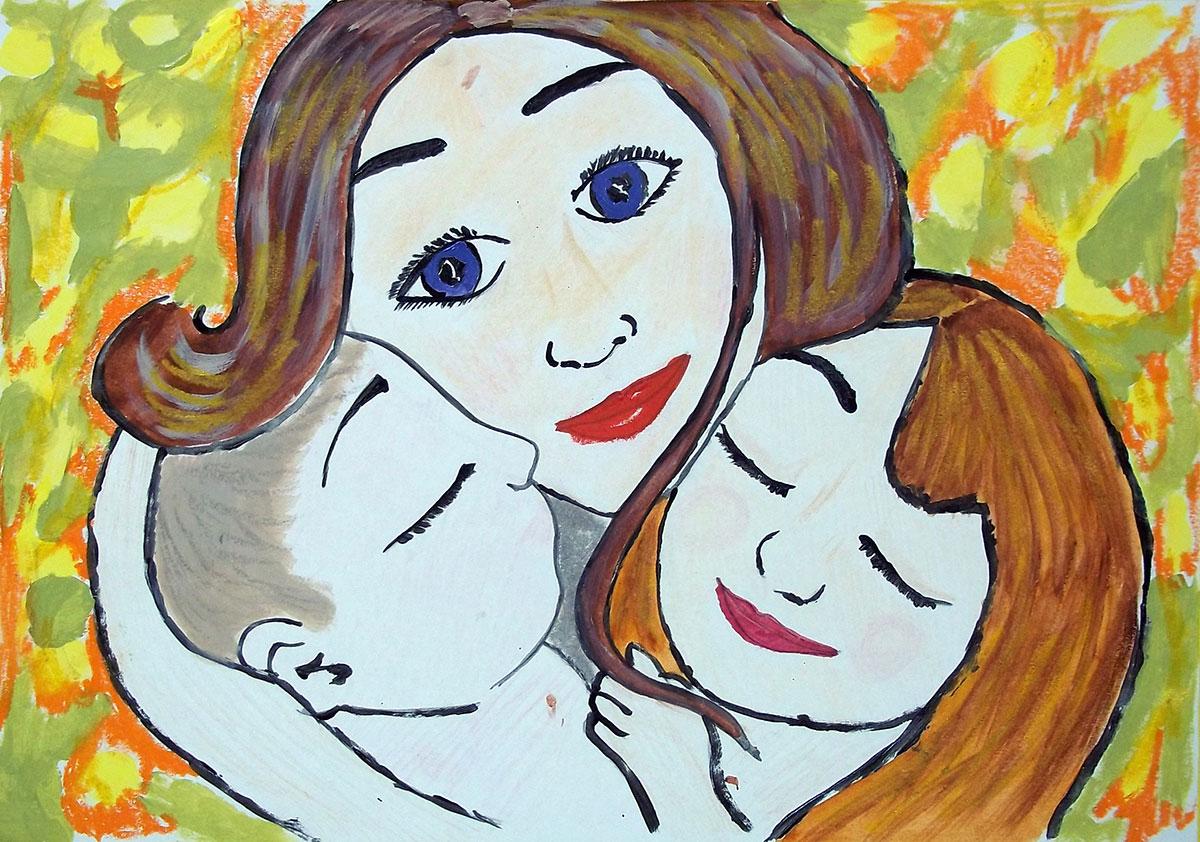 Мы и мама, Волкова Виктория, 5 лет